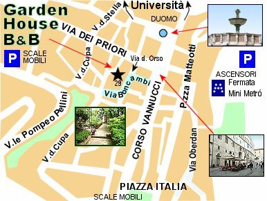 Garden House mappa